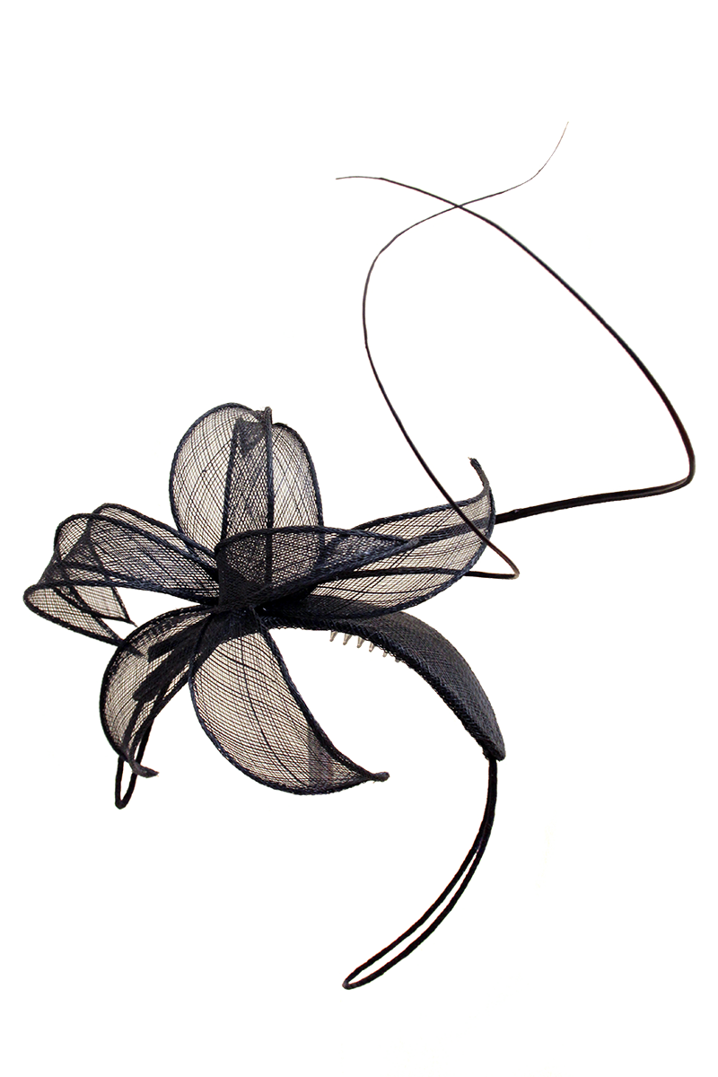 Fascinator flower black