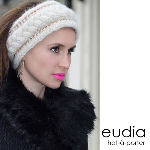 Eudia headband Bardot off white hat a porter collection, handmade hats Amsterdam Den Haag