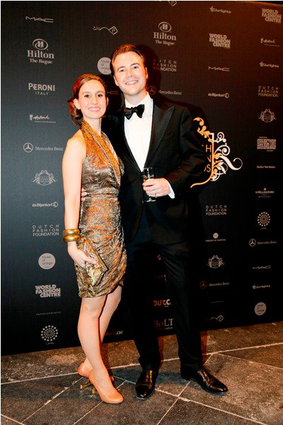 Philip Gentis and me at the Dutch Fashion Awards - by Team Peter Stigter