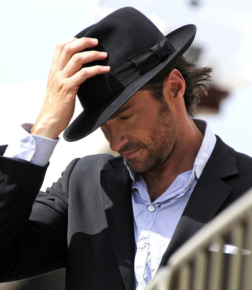 Hugh Jackman with Trilby